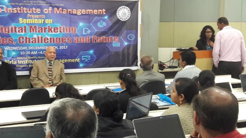 Seminar on Digital Marketing